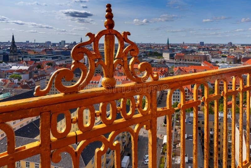 Κοπεγχάγη εναέρια όψη πόλεων στοκ φωτογραφίες