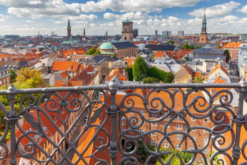 Κοπεγχάγη εναέρια όψη πόλεων στοκ εικόνες