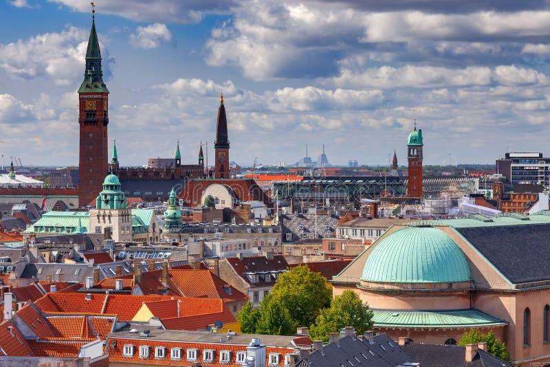 Κοπεγχάγη εναέρια όψη πόλεων στοκ εικόνες με δικαίωμα ελεύθερης χρήσης