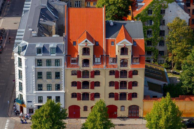 Κοπεγχάγη εναέρια όψη πόλεων στοκ εικόνα