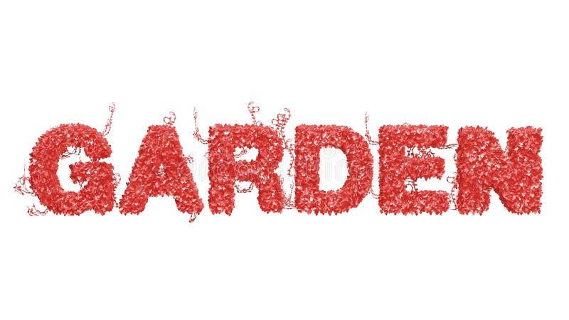 Κοράλλι διαβίωσης - χρώμα του έτους - κήπος λογότυπων από τα φύλλα κισσών απεικόνιση αποθεμάτων