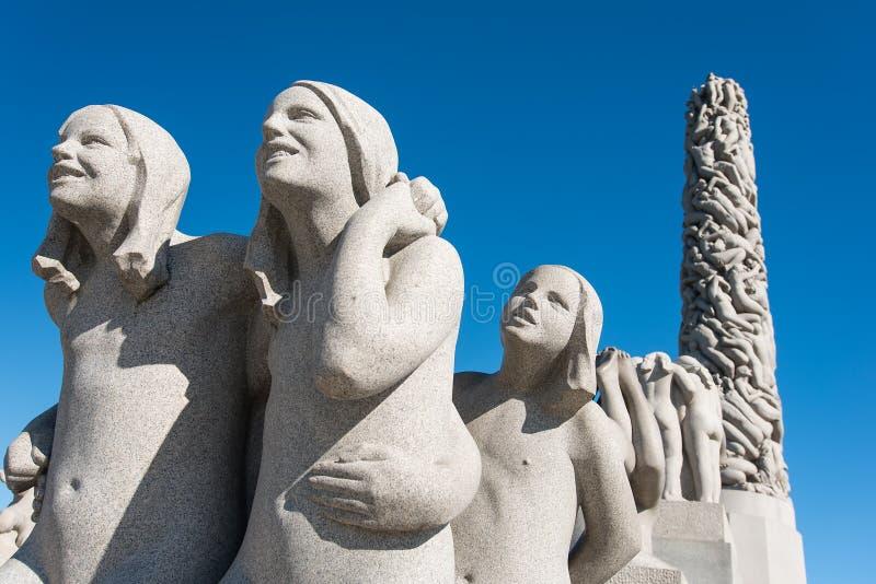 Κορίτσια αγαλμάτων Vigeland στοκ φωτογραφία με δικαίωμα ελεύθερης χρήσης