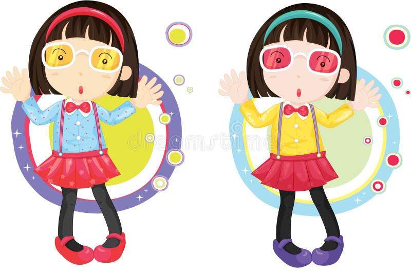 κορίτσια δύο απεικόνιση αποθεμάτων