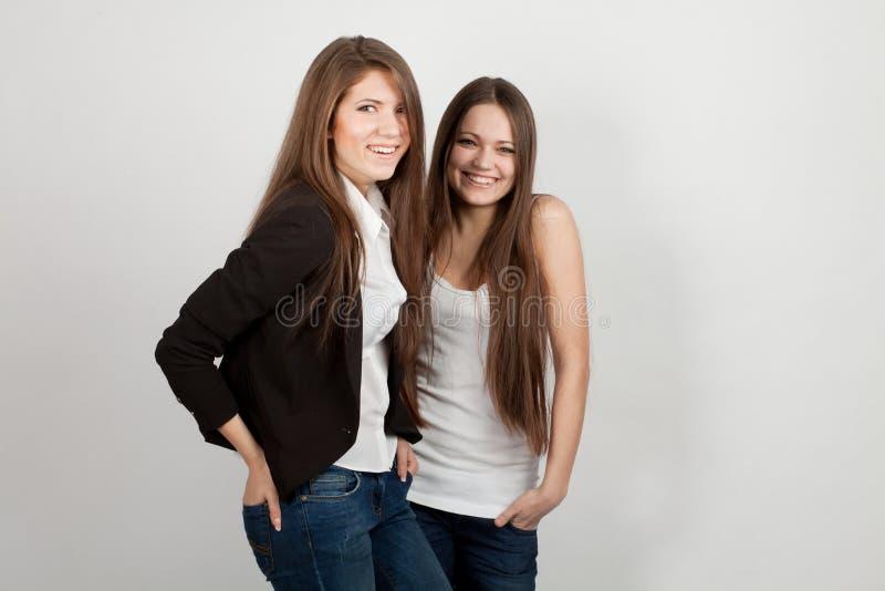 Download κορίτσια δύο στοκ εικόνες. εικόνα από together, χαριτωμένος - 22796430