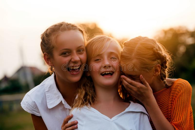 κορίτσια εφηβικά δύο στοκ εικόνα