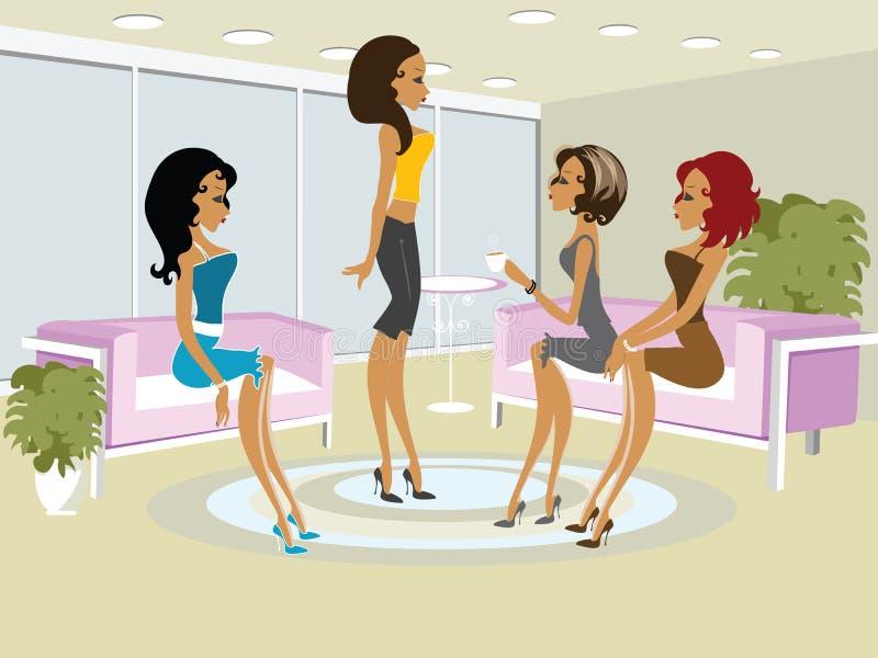 κορίτσια ημέρας boo mss απεικόνιση αποθεμάτων