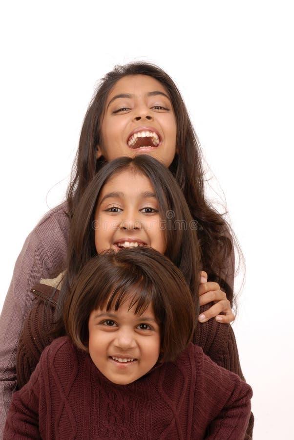 κορίτσια Ινδός τρία στοκ εικόνα