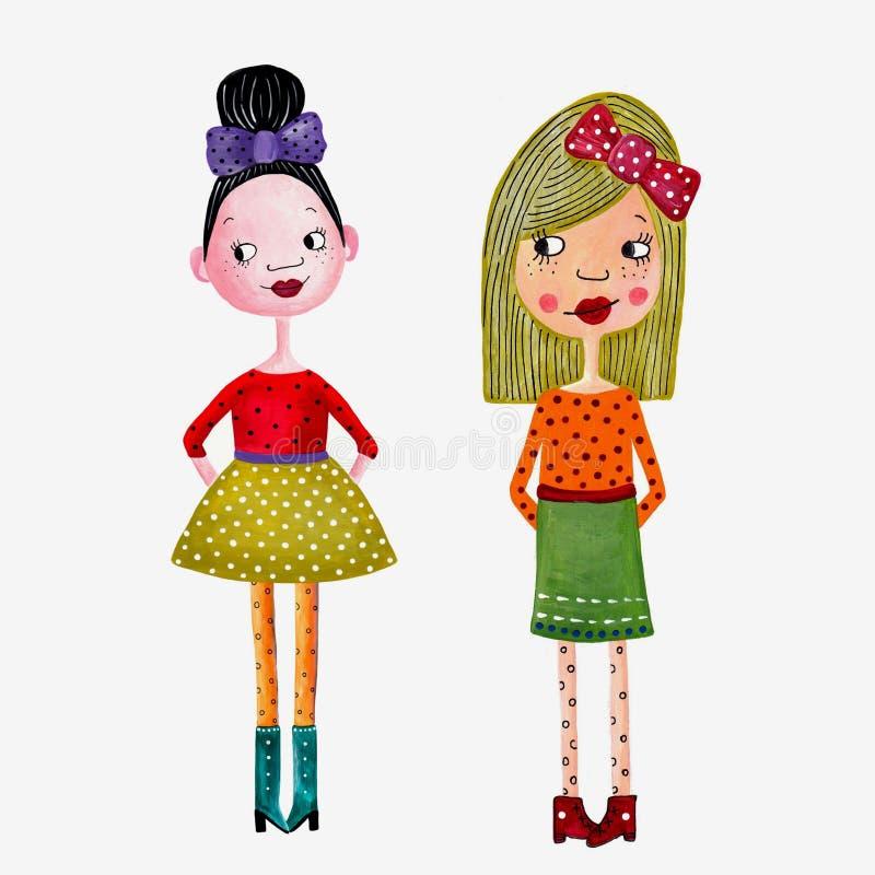 κορίτσια μόδας ελεύθερη απεικόνιση δικαιώματος