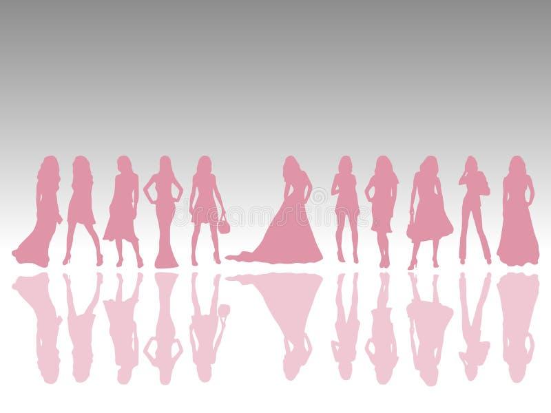 κορίτσια μόδας διανυσματική απεικόνιση