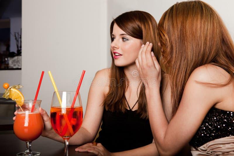 Κορίτσια που μιλούν τα κουτσομπολιά στοκ φωτογραφία με δικαίωμα ελεύθερης χρήσης
