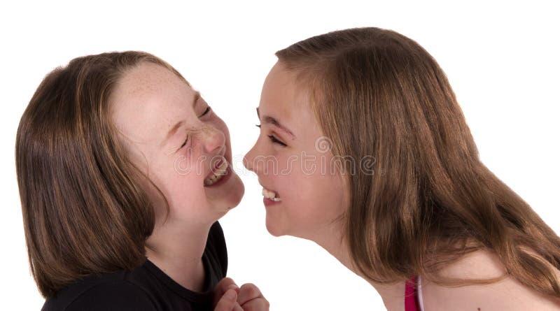 κορίτσια προσώπων που γε& στοκ φωτογραφία με δικαίωμα ελεύθερης χρήσης