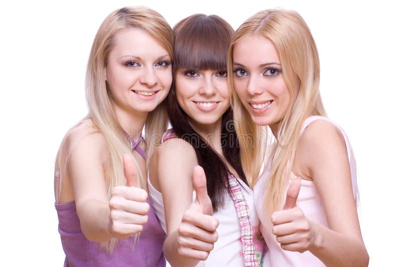κορίτσια τρία από κοινού στοκ εικόνες