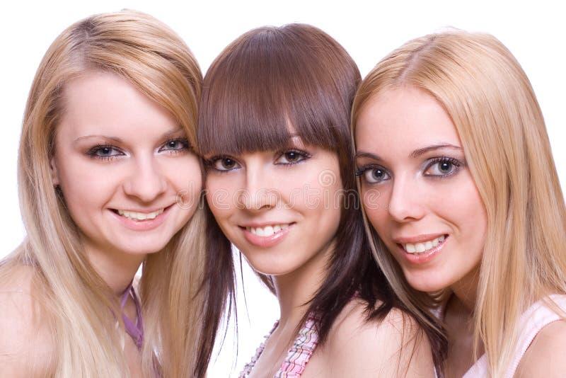 κορίτσια τρία από κοινού στοκ φωτογραφίες