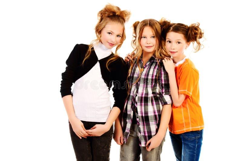 κορίτσια τρία στοκ εικόνες με δικαίωμα ελεύθερης χρήσης