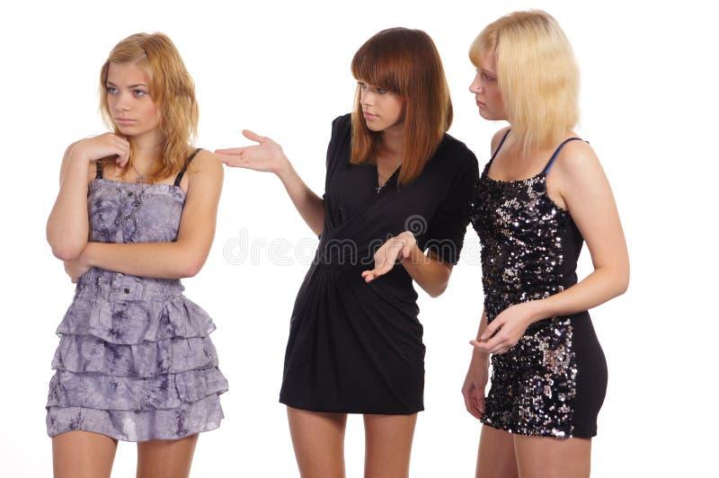 κορίτσια τρεις νεολαίε& στοκ εικόνες