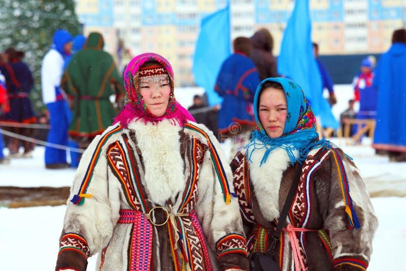 Κορίτσια των ανθρώπων Nenets στοκ φωτογραφίες με δικαίωμα ελεύθερης χρήσης