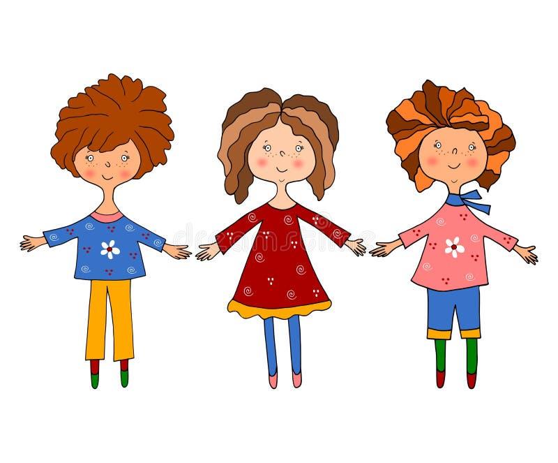 κορίτσια χαρακτηρών κινο&ups ελεύθερη απεικόνιση δικαιώματος