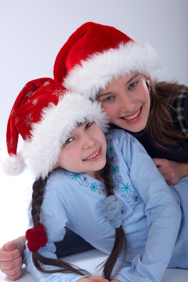 κορίτσια Χριστουγέννων στοκ εικόνα