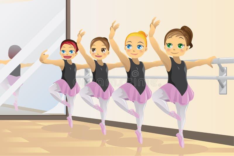 κορίτσια ballerina διανυσματική απεικόνιση