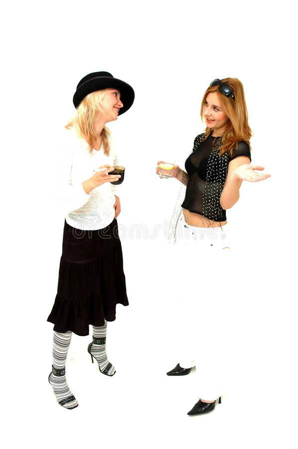 κορίτσια glam στοκ φωτογραφία