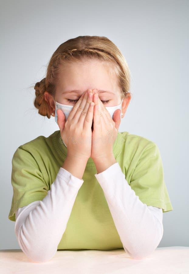 κορίτσι άρρωστο στοκ φωτογραφίες