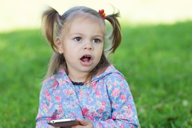 κορίτσι λίγη κραυγή στοκ φωτογραφία