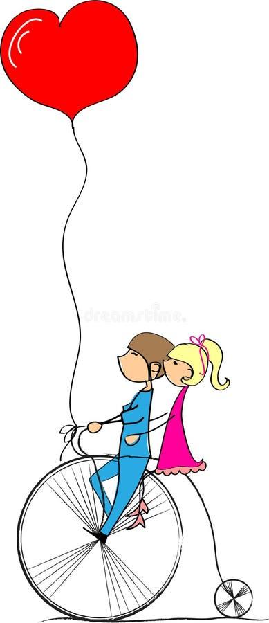 κορίτσι αγοριών που αγαπά ελεύθερη απεικόνιση δικαιώματος