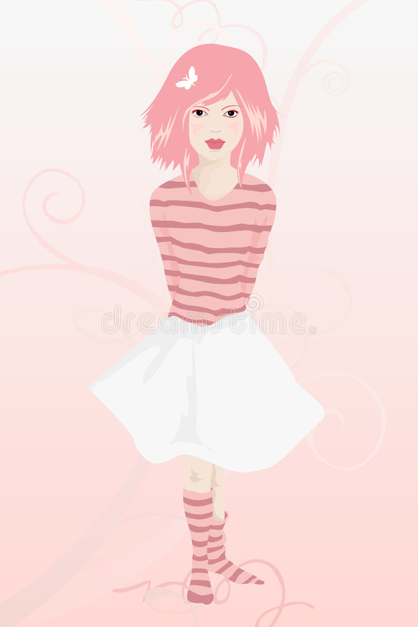 κορίτσι αθώο ελεύθερη απεικόνιση δικαιώματος