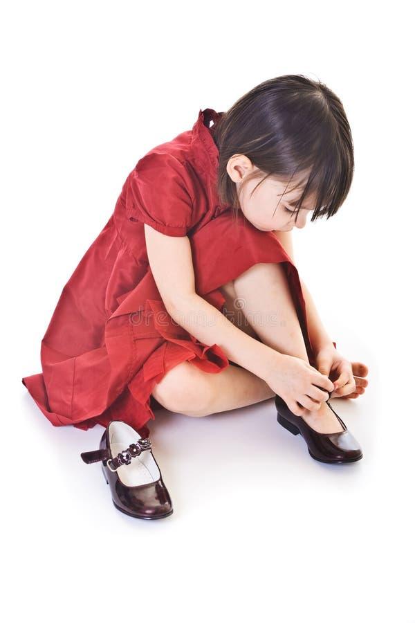 κορίτσι ανασκόπησης λίγα άσπρα στοκ φωτογραφία με δικαίωμα ελεύθερης χρήσης