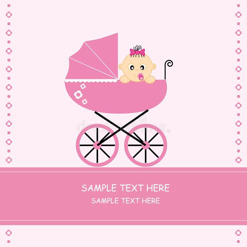κορίτσι αυτοκινήτων μωρών απεικόνιση αποθεμάτων