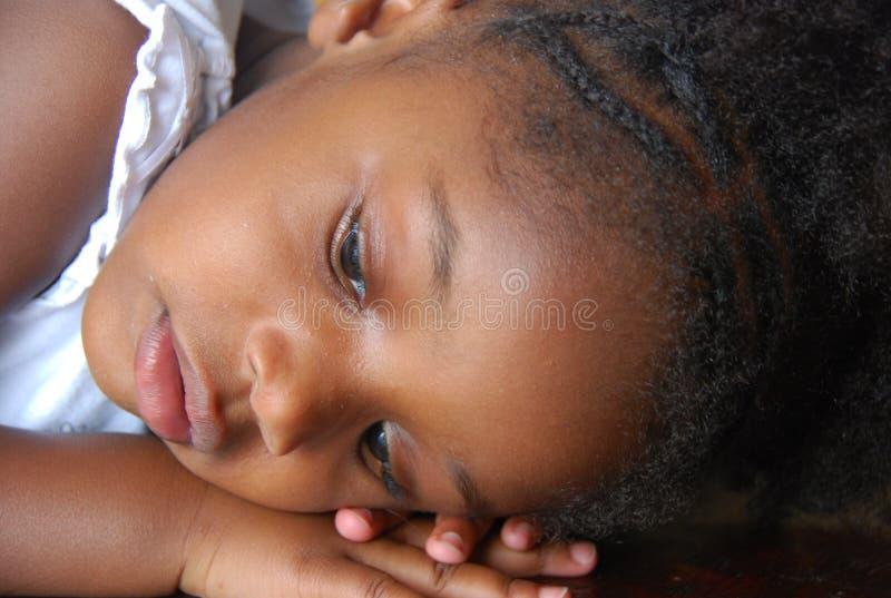 κορίτσι Αϊτινός στοκ εικόνα