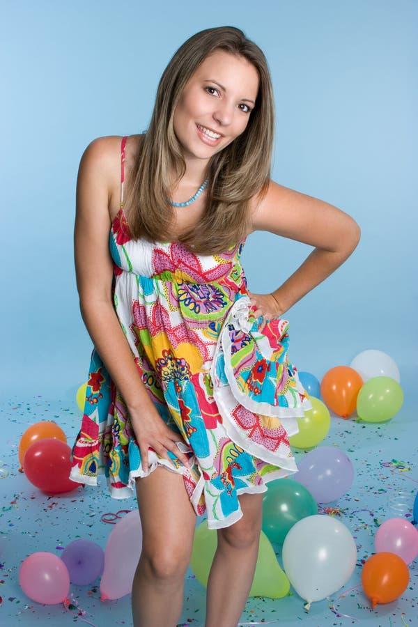 κορίτσι γενεθλίων όμορφο στοκ εικόνα με δικαίωμα ελεύθερης χρήσης