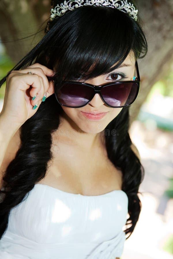 Κορίτσι γενεθλίων Quinceanera στοκ εικόνα