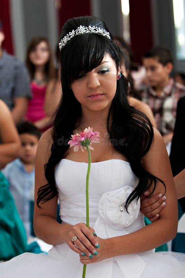 Κορίτσι γενεθλίων Quinceanera στοκ εικόνες με δικαίωμα ελεύθερης χρήσης