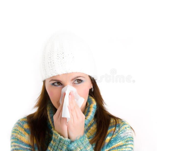 κορίτσι γρίπης στοκ εικόνα με δικαίωμα ελεύθερης χρήσης