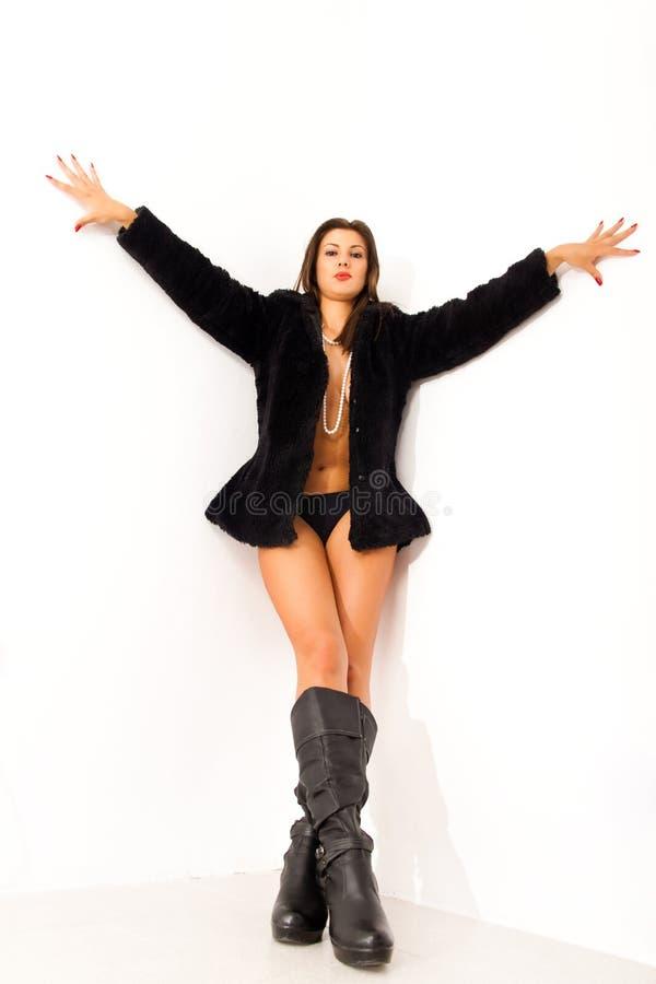 κορίτσι γωνιών γυμνό στοκ φωτογραφία