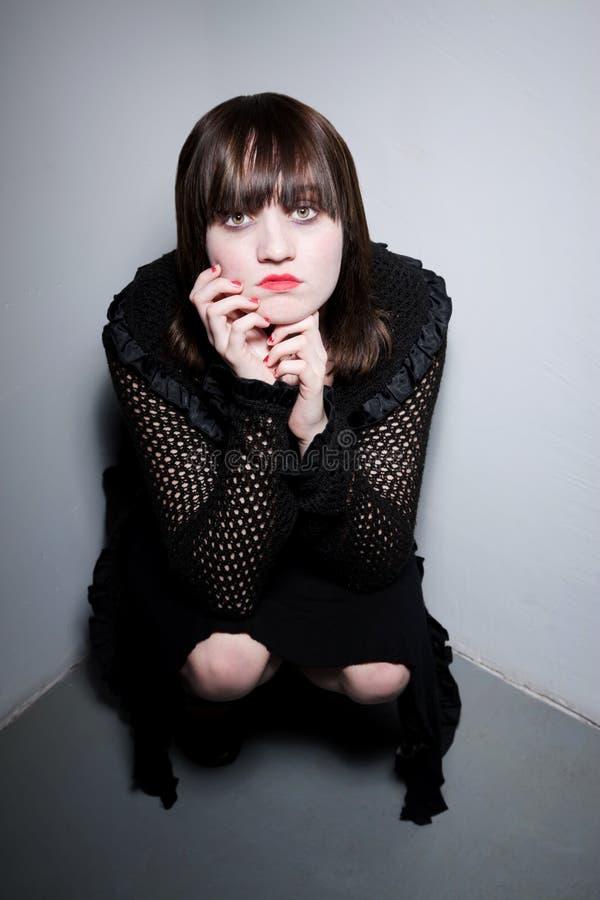 κορίτσι γωνιών goth στοκ εικόνες