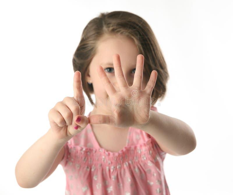 κορίτσι δάχτυλων ηλικίας στοκ φωτογραφία