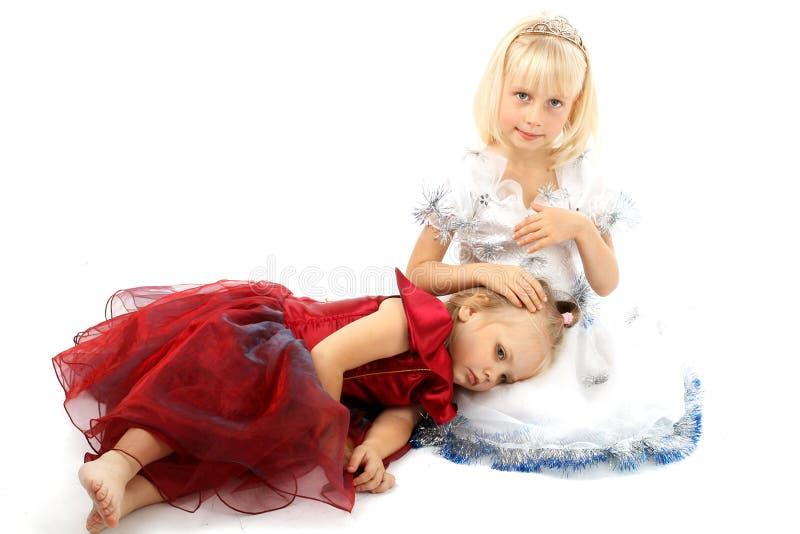 κορίτσι δύο φίλων στοκ φωτογραφίες