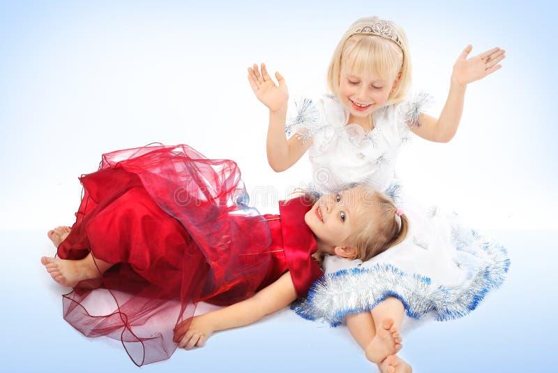 κορίτσι δύο φίλων στοκ φωτογραφία