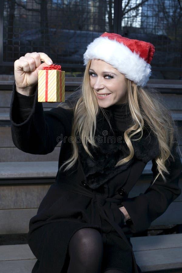 Download κορίτσι δώρων Χριστουγέννων Στοκ Εικόνες - εικόνα από santa, εποχιακός: 22794524