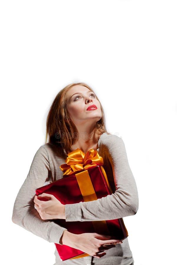 κορίτσι δώρων στοκ φωτογραφίες με δικαίωμα ελεύθερης χρήσης