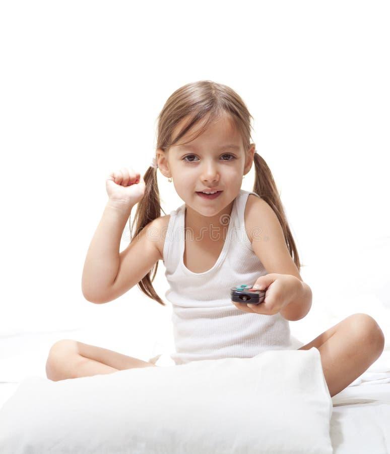 κορίτσι ελέγχου που παί&zeta στοκ εικόνες με δικαίωμα ελεύθερης χρήσης