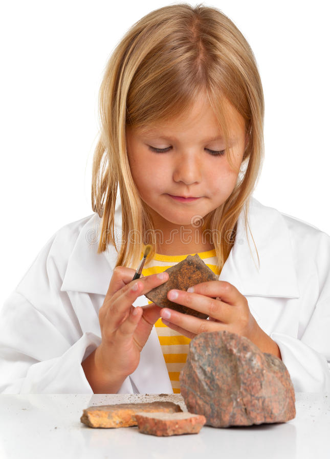 Κορίτσι επιστημόνων στοκ εικόνες με δικαίωμα ελεύθερης χρήσης