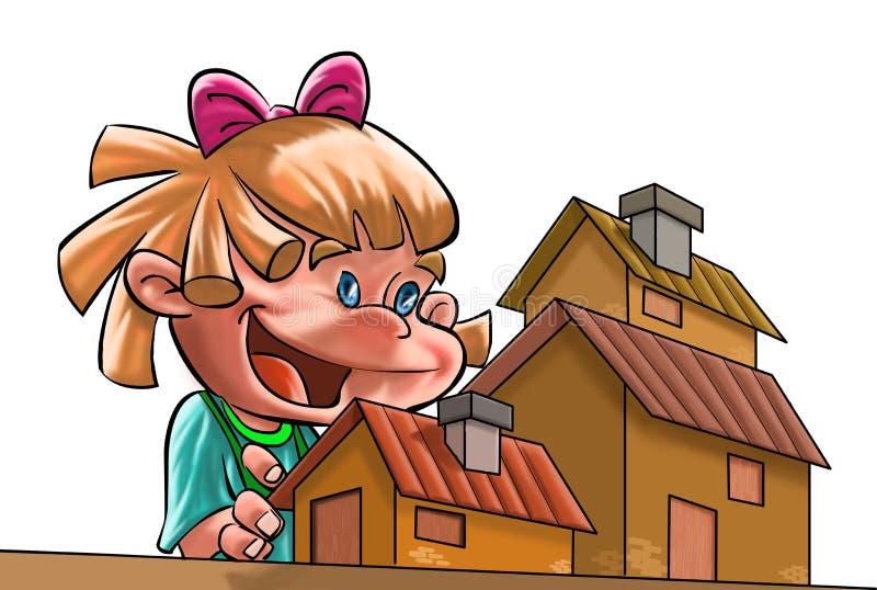 Download κορίτσι ευτυχές απεικόνιση αποθεμάτων. εικονογραφία από kindergarten - 2229942