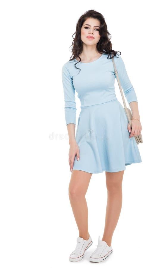 Κορίτσι εφήβων σε ένα μπλε φόρεμα στοκ εικόνες με δικαίωμα ελεύθερης χρήσης