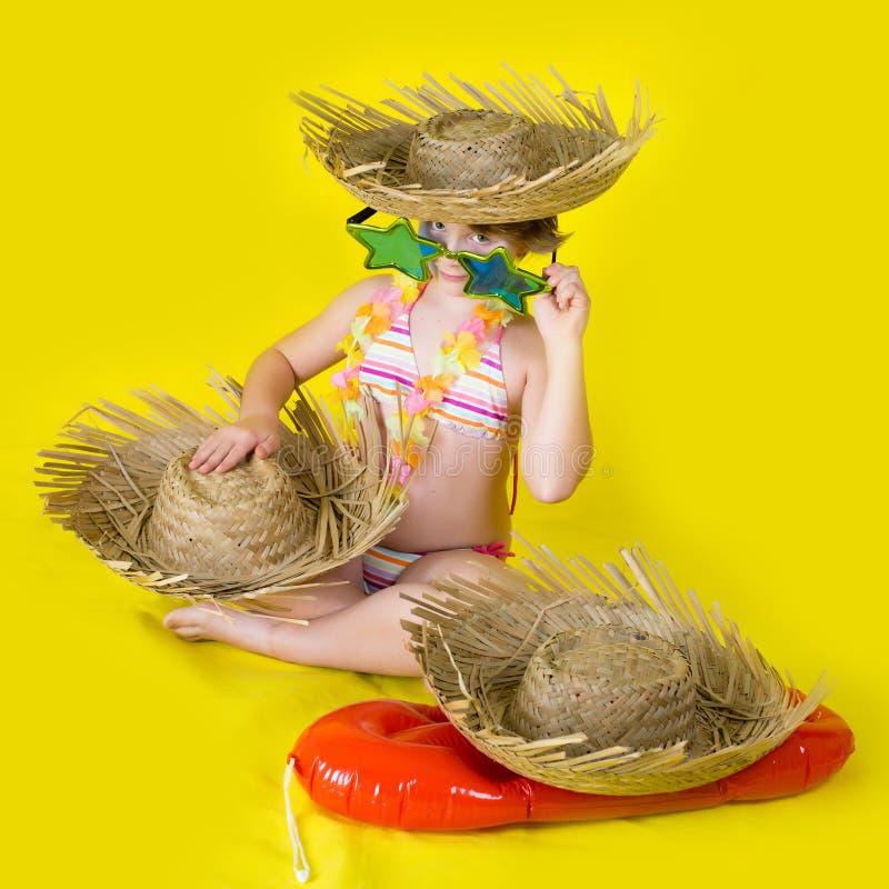 Κορίτσι θερινού hula στοκ εικόνα