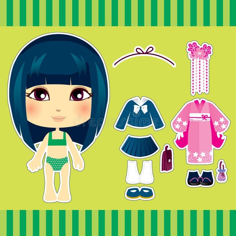 κορίτσι ιαπωνικά μόδας απεικόνιση αποθεμάτων