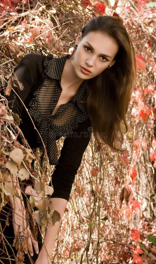 κορίτσι κήπων φθινοπώρου στοκ φωτογραφίες με δικαίωμα ελεύθερης χρήσης