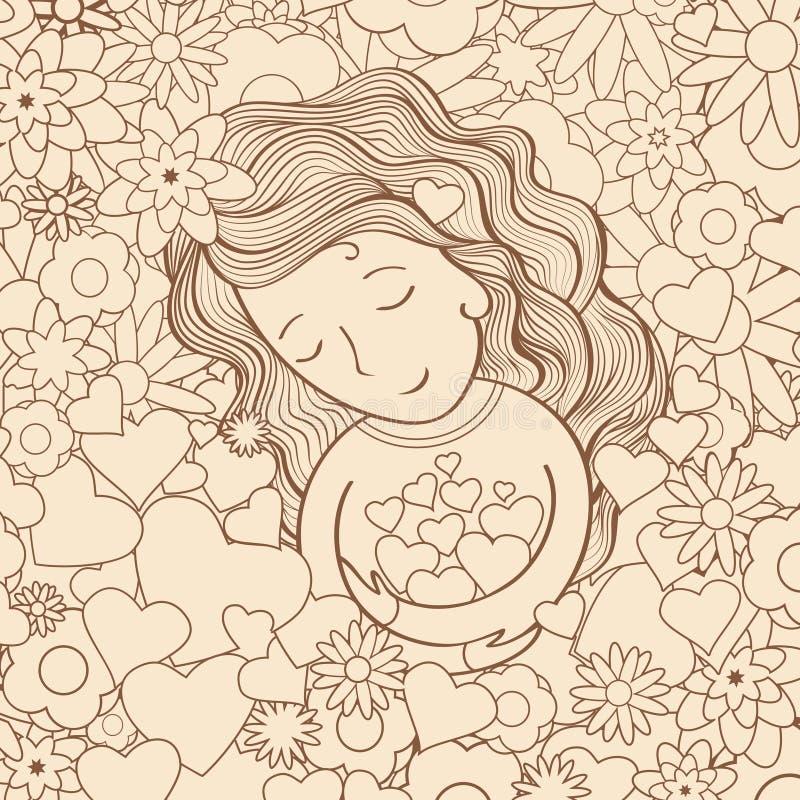 κορίτσι κήπων στοκ φωτογραφία με δικαίωμα ελεύθερης χρήσης